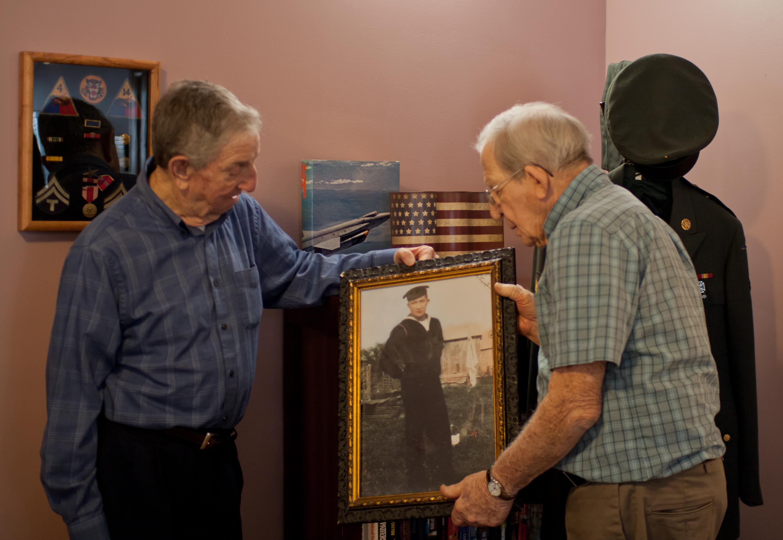 Guys With Military Memorabilia